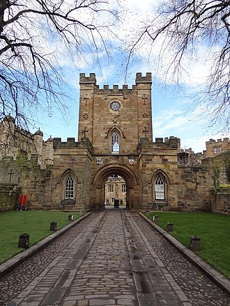 Durham University - Durham Castle (gatehouse pictured) houses University College, making it one of the oldest buildings currently being used to house a university in the world