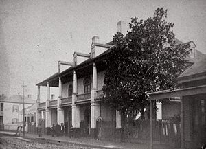 Algiers, New Orleans - Old Duverje Plantation House before its destruction in the Great Algiers Fire of 1895