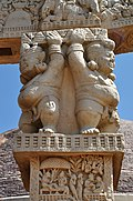 Dwarfs - West Face - North Pillar - West Gateway - Stupa 1 - Sanchi Hill 2013-02-21 4326.JPG