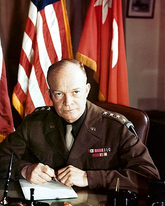 George S. Patton slapping incidents - General Dwight Eisenhower, commander of the Sicily invasion and Patton's superior, in 1943. Eisenhower privately criticized Patton for the incidents, but refused to remove him completely from command.