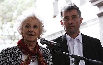 Estela de Carlotto - Estela with her grandson, Ignacio (Guido Montoya Carlotto) Hurban.