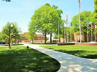 East Tennessee State University -  Spring morning in the center of campus