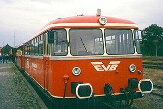 DÜWAG - Railbus built under the Uerdingen brand name, operated by EVB