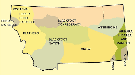 Crow Reservation Montana Map.Early Indian Treaty Territories In Montana Wikipedia