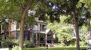 East Grove Street District (Bloomington, Illinois) - Some of the homes in the East Grove Street District