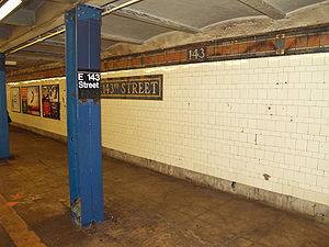 East 143rd Street–St. Mary's Street (IRT Pelham Line) - Image: East 143rd Street–St Mary's Street (IRT Pelham Line) by David Shankbone