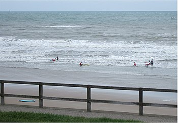 English: Easter holidays On a cold North Sea b...
