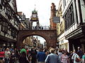 Eastgate clock from ground, Chester 2.JPG