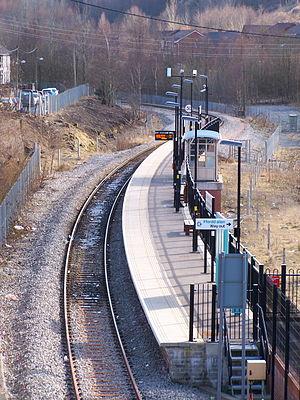 Ebbw Vale Parkway railway station - Image: Ebbw Vale Parkway railway station in 2010