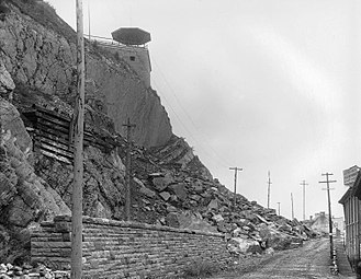 Promontory of Quebec - The rockslide of 1889