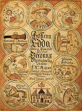 Snorri Sturluson - Print edition of Snorri's Edda of 1666