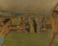 Edgar Degas, Young Spartans, detail.png