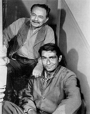 "Dick Powell's Zane Grey Theatre - Edward G. Robinson and his son in episode ""Heritage"" (1959)"
