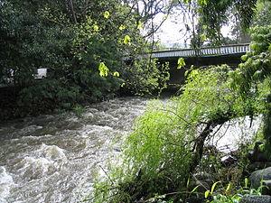 Eerste River - Eerste River in Stellenbosch after heavy rains