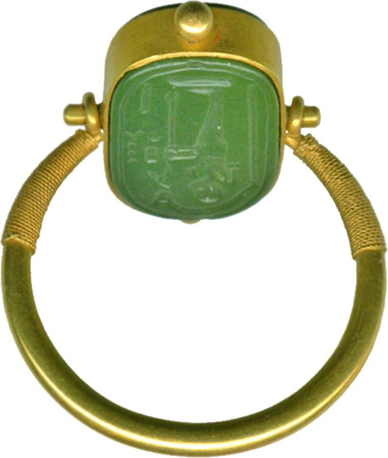 Egyptian - Finger Ring with a Representation of Ptah - Walters 42387 - Side A
