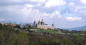 A distant view of El Escorial.