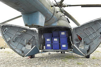 Mil Mi-17 - Afghan Air Force Mi-17 showing the clamshell cargo door arrangement