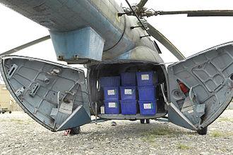Mil Mi-17 - Afghan Air Force Mi-17 showing the clamshell cargo door arrangement
