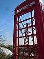 Electricity pylon in telephone box London 2012.jpg