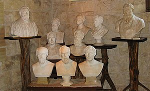 Elisabet Ney Museum - Busts on display inside the museum