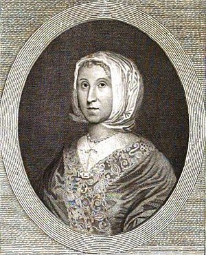 Thomas Moule - Image: Elizabeth Cromwell (Elizabeth Steward) mother of Oliver Cromwell. Engraving of painting by Robert Walker