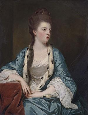 William Kerr, 5th Marquess of Lothian - Elizabeth Kerr, marquise of Lothian (1745-1780), William Kerr's wife. (Joshua Reynolds, 1769)