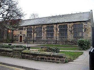 Queen Elizabeth Grammar School, Wakefield - The original Elizabethan school building on Brook Street