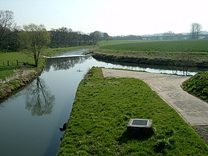 Werre - Confluence of the rivers Else and Werre (right).