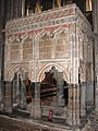 Ely Cathedral - monument in choir aisle - geograph.org.uk - 2168464.jpg