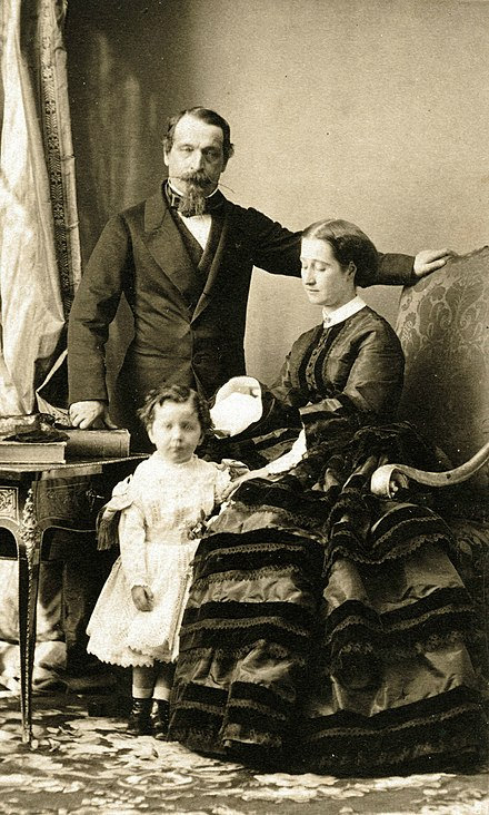 Emperor Napoleon III and Empress Eugenie with their only son Emperor Napoleon III and his family.jpg