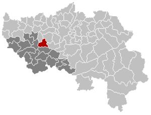 Engis - Image: Engis Liège Belgium Map