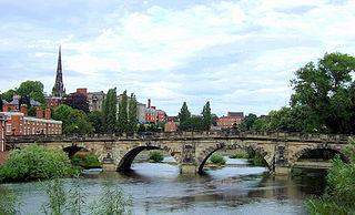English Bridge bridge over the River Severn in Shrewsbury