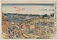 Enjoying the Evening Cool Viewing Fireworks at Ryôgoku Bridge by Hokusai 1780.jpg