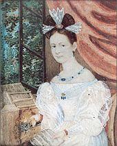 Ernestine von Fricken, um 1835 (Quelle: Wikimedia)