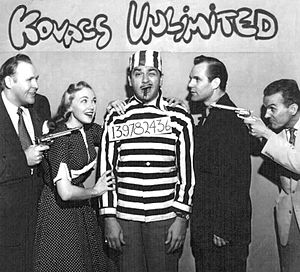 The Ernie Kovacs Show - The cast of Kovacs Unlimited in 1953.  From left-Eddie Hatrak, Edie Adams, Ernie Kovacs, Trygve Lund and Andy McKay.