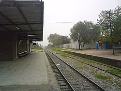 The train station of Sayago