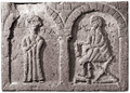 Etchmiadzin Cathedral Thecla & Paul relief.png