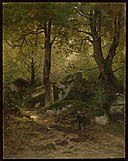 Eugène Cicéri - Artist in the Gorge aux Loups, Forest of Fontainebleau - 13.460 - Museum of Fine Arts.jpg