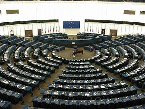 Elections to the European Parliament - The hemicycle of the European Parliament in Strasbourg