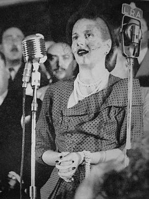 Peronism - Eva Perón claims the female vote in 1947