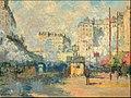 Extérieur de la gare Saint-Lazare, effet de soleil.JPG
