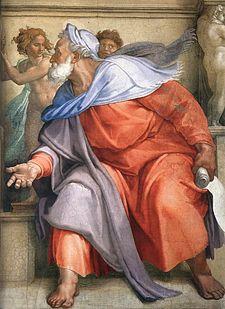 Il profeta Ezechiele(Michelangelo, volta della Cappella Sistina)