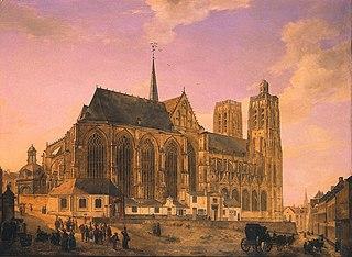De kerk van St-Gudule te Brussel