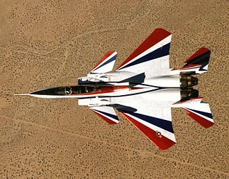 McDonnell Douglas F-15 STOL/MTD - Top view of the F-15 ACTIVE