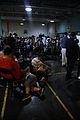 FEMA - 37758 - Evacuees wait for transporation out of Louisiana.jpg