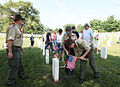 FEMA - 44470 - Boy Scouts place flags at Nashville National Memorial Cemetery.jpg