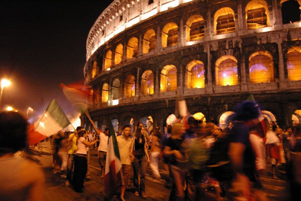 FIFA World Cup 2006 - Italian celebrations at Colosseum