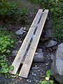 FLT M24 9.9 mi - Puncheon over ditch on Tucker Rd, 2 2x8x10', 2x4 ^ 2x6 underlayment, log sills - panoramio.jpg