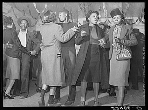 Juke joint - Dancing at a juke joint outside of Clarksdale, Mississippi, in 1939