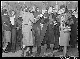 Juke joint - Dancing at a juke joint outside  Clarksdale, Mississippi, in 1939